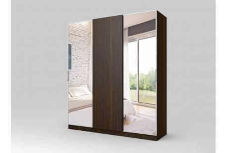 шкаф купе трехдверный с зеркалом семерканд серебрянный декс