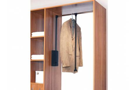 Мебельный лифт с доводчиком KOMANDOR 57-0745 450-600, цвет хром - продажа по Украине | ДЕКСsale2