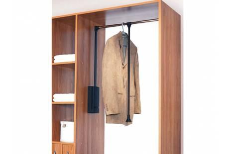 Лифт для одежды с доводчиком KOMANDOR 57-07838 30-1150, цвет хром - купить со склада в Киеве   ДЕКС