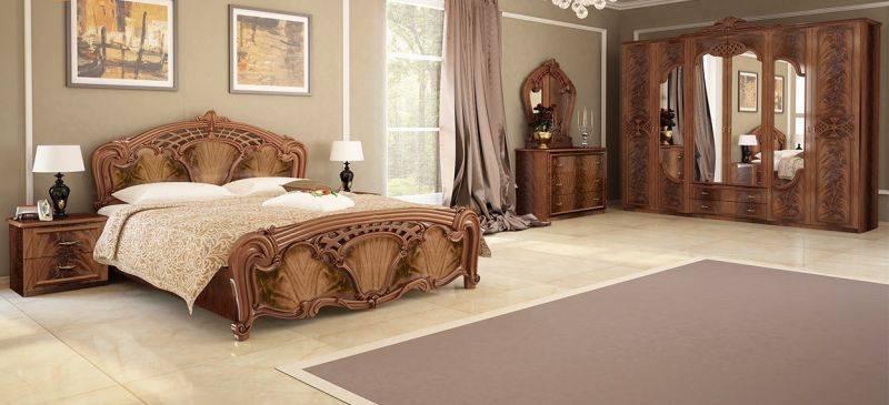 Резная спальня в богемном стиле - OLIMPIA