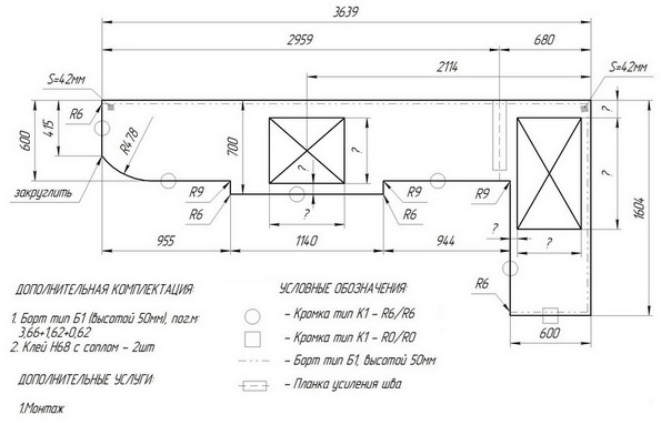 Столешница - ширина кухонная столешница ростов